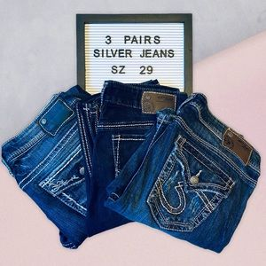 Silver Jeans Bundle with Capris and Pants Size 29